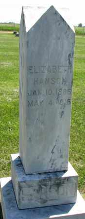 HANSON, ELIZABETH - Clay County, South Dakota | ELIZABETH HANSON - South Dakota Gravestone Photos