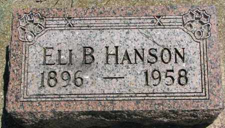 HANSON, ELI B. - Clay County, South Dakota | ELI B. HANSON - South Dakota Gravestone Photos