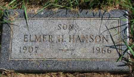 HANSON, ELMER H. - Clay County, South Dakota | ELMER H. HANSON - South Dakota Gravestone Photos