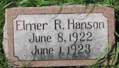 HANSON, ELMER R. - Clay County, South Dakota | ELMER R. HANSON - South Dakota Gravestone Photos