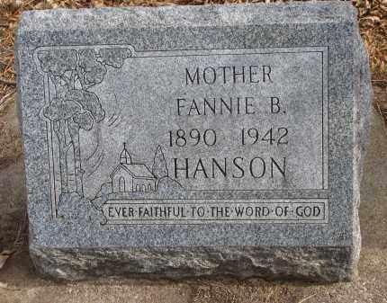 HANSON, FANNIE B. - Clay County, South Dakota | FANNIE B. HANSON - South Dakota Gravestone Photos