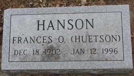 HANSON, FRANCES O. - Clay County, South Dakota | FRANCES O. HANSON - South Dakota Gravestone Photos