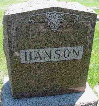 HANSON, FAMILY STONE - Clay County, South Dakota | FAMILY STONE HANSON - South Dakota Gravestone Photos
