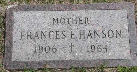 HANSON, FRANCES E. - Clay County, South Dakota   FRANCES E. HANSON - South Dakota Gravestone Photos