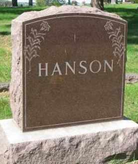 HANSON, FAMILY STONE - Clay County, South Dakota | FAMILY STONE HANSON - South Dakota Gravestone Photos