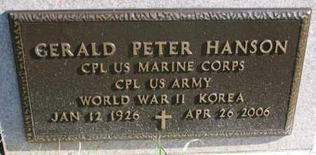 HANSON, GERALD PETER (MILITARY) - Clay County, South Dakota | GERALD PETER (MILITARY) HANSON - South Dakota Gravestone Photos