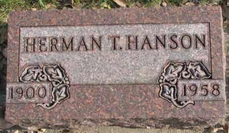HANSON, HERMAN T. - Clay County, South Dakota   HERMAN T. HANSON - South Dakota Gravestone Photos