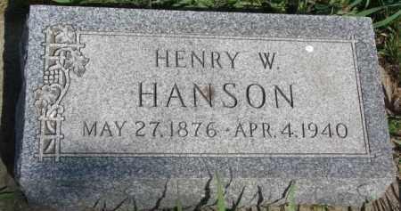 HANSON, HENRY W. - Clay County, South Dakota | HENRY W. HANSON - South Dakota Gravestone Photos