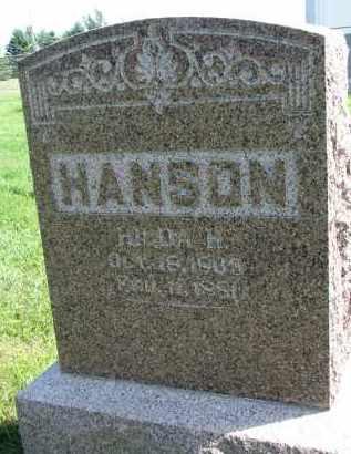 HANSON, HULDA H. - Clay County, South Dakota | HULDA H. HANSON - South Dakota Gravestone Photos