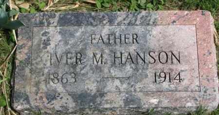 HANSON, IVER M. - Clay County, South Dakota | IVER M. HANSON - South Dakota Gravestone Photos