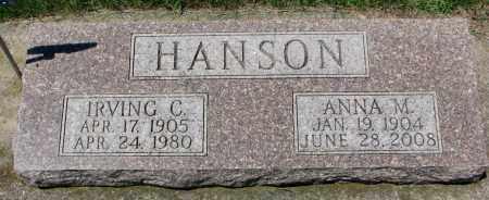 HANSON, IRVING C. - Clay County, South Dakota | IRVING C. HANSON - South Dakota Gravestone Photos