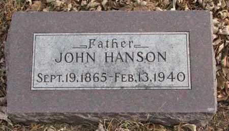 HANSON, JOHN - Clay County, South Dakota | JOHN HANSON - South Dakota Gravestone Photos