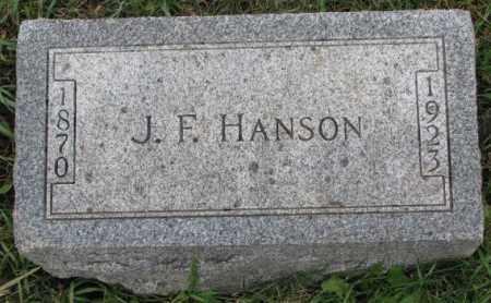HANSON, J.F. - Clay County, South Dakota | J.F. HANSON - South Dakota Gravestone Photos