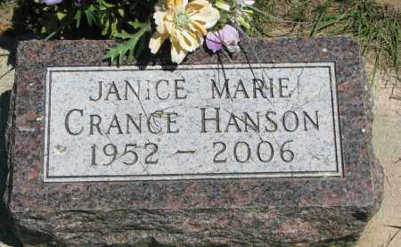 HANSON, JANICE MARIE - Clay County, South Dakota | JANICE MARIE HANSON - South Dakota Gravestone Photos