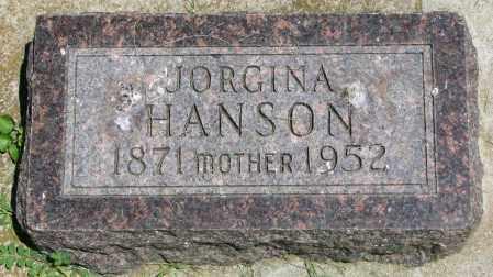 HANSON, JORGINA - Clay County, South Dakota | JORGINA HANSON - South Dakota Gravestone Photos