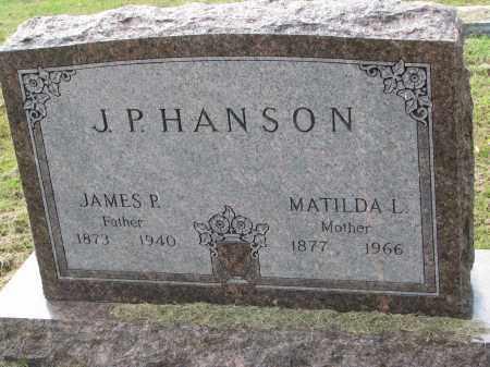 HANSON, JAMES P. - Clay County, South Dakota | JAMES P. HANSON - South Dakota Gravestone Photos