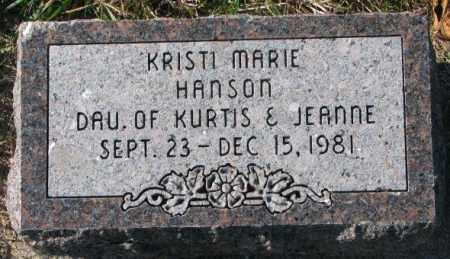 HANSON, KRISTI MARIE - Clay County, South Dakota | KRISTI MARIE HANSON - South Dakota Gravestone Photos