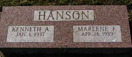 HANSON, MARLENE F. - Clay County, South Dakota | MARLENE F. HANSON - South Dakota Gravestone Photos