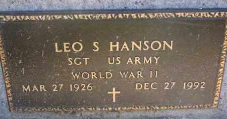 HANSON, LEO S. (WW II) - Clay County, South Dakota   LEO S. (WW II) HANSON - South Dakota Gravestone Photos