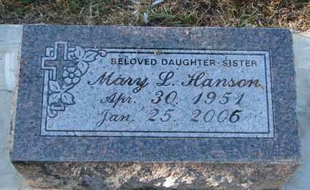 HANSON, MARY L. - Clay County, South Dakota | MARY L. HANSON - South Dakota Gravestone Photos