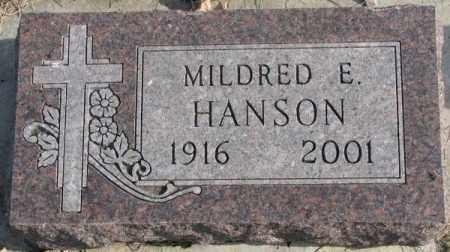 HANSON, MILDRED E. - Clay County, South Dakota | MILDRED E. HANSON - South Dakota Gravestone Photos