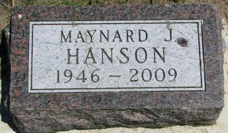 HANSON, MAYNARD J. - Clay County, South Dakota   MAYNARD J. HANSON - South Dakota Gravestone Photos