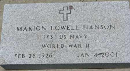 HANSON, MARION LOWELL - Clay County, South Dakota | MARION LOWELL HANSON - South Dakota Gravestone Photos
