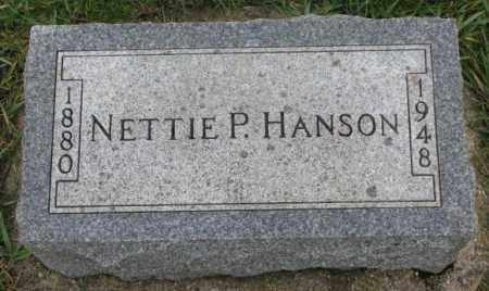 HANSON, NETTIE P. - Clay County, South Dakota | NETTIE P. HANSON - South Dakota Gravestone Photos
