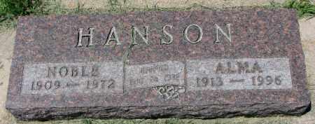 HANSON, NOBLE - Clay County, South Dakota   NOBLE HANSON - South Dakota Gravestone Photos