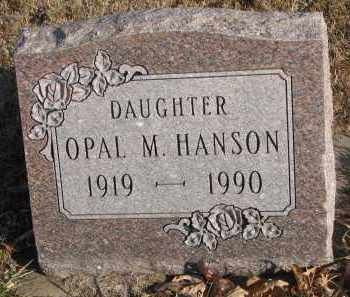 HANSON, OPAL M. - Clay County, South Dakota | OPAL M. HANSON - South Dakota Gravestone Photos
