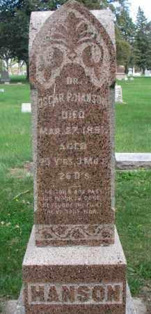 HANSON, OSCAR P. (DR.) - Clay County, South Dakota | OSCAR P. (DR.) HANSON - South Dakota Gravestone Photos
