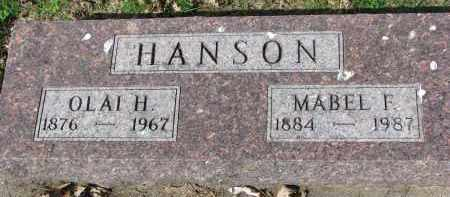 HANSON, MABEL F. - Clay County, South Dakota | MABEL F. HANSON - South Dakota Gravestone Photos