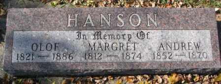 HANSON, MARGRET - Clay County, South Dakota | MARGRET HANSON - South Dakota Gravestone Photos