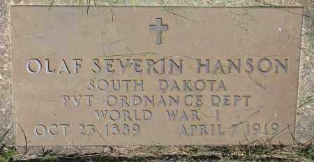 HANSON, OLAF SEVERIN - Clay County, South Dakota | OLAF SEVERIN HANSON - South Dakota Gravestone Photos