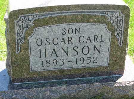 HANSON, OSCAR CARL - Clay County, South Dakota | OSCAR CARL HANSON - South Dakota Gravestone Photos