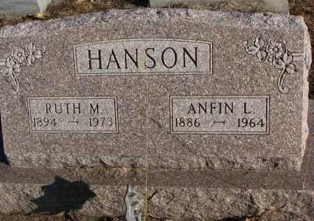 HANSON, RUTH M. - Clay County, South Dakota | RUTH M. HANSON - South Dakota Gravestone Photos