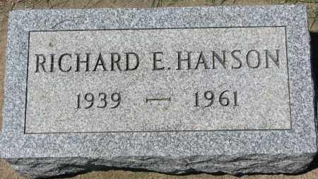 HANSON, RICHARD E. - Clay County, South Dakota | RICHARD E. HANSON - South Dakota Gravestone Photos
