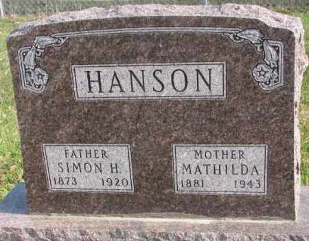 HANSON, MATHILDA - Clay County, South Dakota | MATHILDA HANSON - South Dakota Gravestone Photos