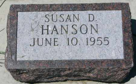 HANSON, SUSAN D. - Clay County, South Dakota | SUSAN D. HANSON - South Dakota Gravestone Photos