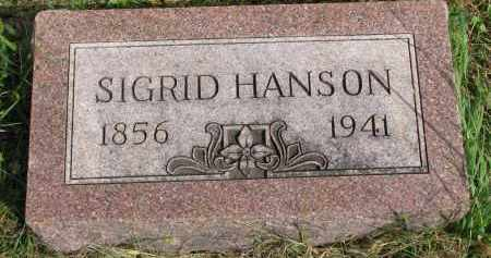 HANSON, SIGRID - Clay County, South Dakota | SIGRID HANSON - South Dakota Gravestone Photos