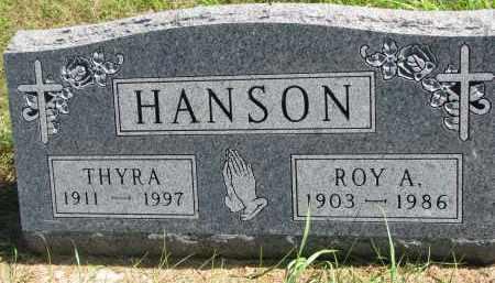 HANSON, THYRA - Clay County, South Dakota | THYRA HANSON - South Dakota Gravestone Photos