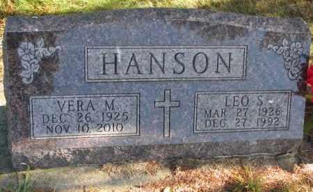 HANSON, VERA M. - Clay County, South Dakota   VERA M. HANSON - South Dakota Gravestone Photos