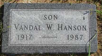 HANSON, VANDAL W. - Clay County, South Dakota | VANDAL W. HANSON - South Dakota Gravestone Photos