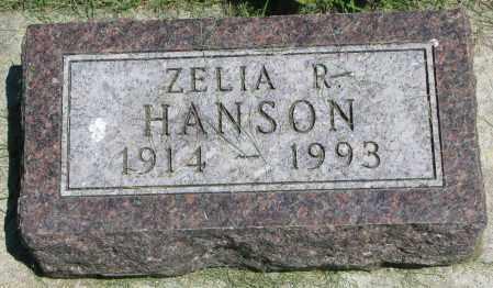 HANSON, ZELIA R. - Clay County, South Dakota   ZELIA R. HANSON - South Dakota Gravestone Photos
