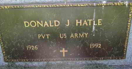 HATLE, DONALD J. (MILITARY) - Clay County, South Dakota | DONALD J. (MILITARY) HATLE - South Dakota Gravestone Photos