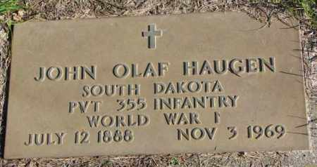 HAUGEN, JOHN OLAF - Clay County, South Dakota | JOHN OLAF HAUGEN - South Dakota Gravestone Photos