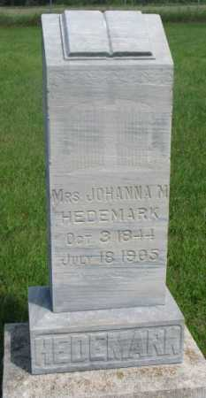 HEDEMARK, JOHANNA - Clay County, South Dakota   JOHANNA HEDEMARK - South Dakota Gravestone Photos