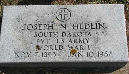 HEDLIN, JOSEPH N. - Clay County, South Dakota | JOSEPH N. HEDLIN - South Dakota Gravestone Photos