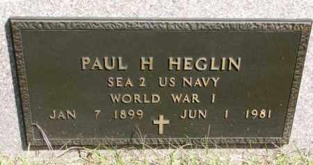 HEGLIN, PAUL H. (WW I) - Clay County, South Dakota | PAUL H. (WW I) HEGLIN - South Dakota Gravestone Photos