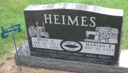 HEIMES, MARIAN R. - Clay County, South Dakota | MARIAN R. HEIMES - South Dakota Gravestone Photos